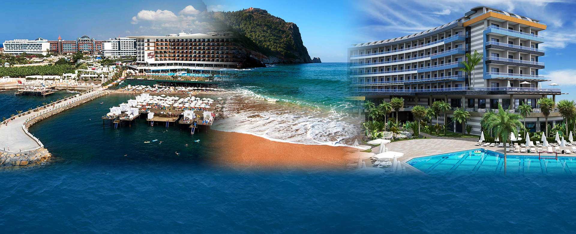Alanja hoteli za leto 2021. u Turskoj, first i last minute popustima i specijalnim ponudama, avio prevoz direktnim čarter letom. Prelepi hoteli na Kleopatrinoj plaži.